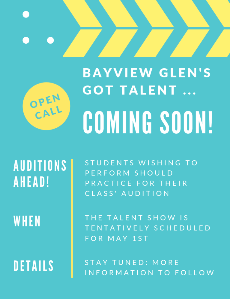 BAYVIEW GLEN'S GOT TALENT!
